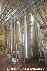 Used-DCI 7,500 Gallon Jacketed Mix Tank, 316L Stainless Steel.  22 gallon Jacket MAWP 150/FV PSI @100F. Top mounted 7.5HP mo...