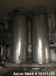 "Mueller 6000 Gallon Vertical 316 Stainless Steel Jacketed Tank. Sanitary polished, interior, 7'4"" d..."