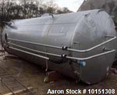 Used- Mueller 6000 Gallon Vertical Stainless Steel Jacketed Tank