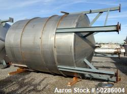 "Used- Perry Products Tank, 5,200 Gallon, Model VCCX, 304 Stainless Steel, Vertical. Approximate 106"" diameter x 132"" straigh..."