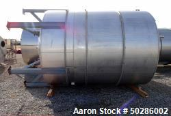 "Used- Perry Products Tank, 5,200 Gallon, Model VCWX, 304 Stainless Steel, Vertical. Approximate 106"" diameter x 132"" straigh..."