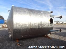 Used- Perry Products  5,200 Gallon Tank, Stainless Steel, Vertical.
