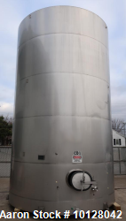 Used- 12,000 Gallon Santa Rosa Stainless Steel Vertical Stainless Jacketed Tank