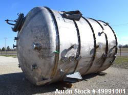 "Used- Ward Tank & Heat Exchanger Corp. Tank, 10,000 Gallon, 904L Stainless Steel, Vertical. Approximate 132"" diameter x 142""..."