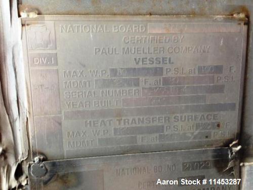 Used- 8000 Gallon Mueller Reciever Tank.