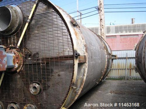 Used-12,000 Gallon Nevamar Mix Tank, 304 stainless steel construction, 10' diameter x 20' straight side, dish top and bottom...