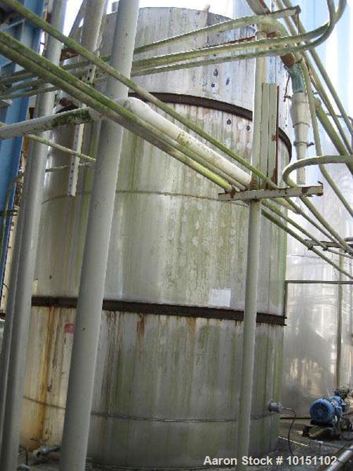 Used-Approximately 17,000 gallon vertical stainless steel tank.  12' Diameter x 21' straight side.  With flat top and sloped...