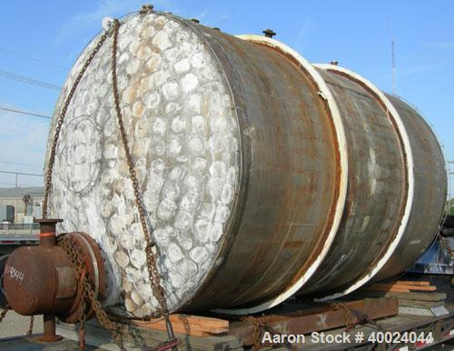 Used- Tank, 6000 Gallon, 317 Stainless Steel, Horizontal. Approximately 9' diameter x 12' long, dished ends. Top entering Li...