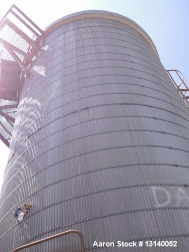 """Used- Nooter Corporation, Approximately 22,000 Gallon 316L Stainless Steel Vertical Storage Tank. 12'-6"""" diameter x 24' high..."""