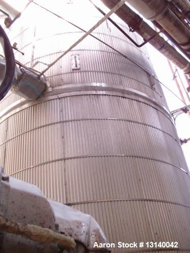 Used- Precision Stainless Steel Vertical Storage Tank, Approximately 10,000 Gallons. 316L stainless steel . 10' diameter x 1...
