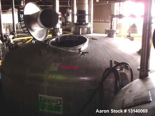 "Used- Precision Stainless Approximately 8,000 Gallon 316L Stainless Steel Vertical Storage Tank. 11 diameter x 109"" high str..."