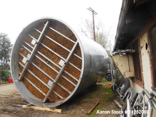 Used Quality Mfg 13,750 gallon stainless steel tank
