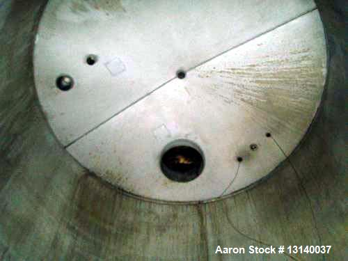 Used- Reco, 8,800 Gallon, 304 Stainless Steel Vertical Storage Tank. 10' diameter x 15' high straight side. Internal rated a...