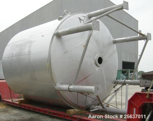 """Used- Stainless Fabrication Kettle, 15,000 gallon, 316L stainless steel. 158"""" diameter x 167"""" straight side, dished top and ..."""