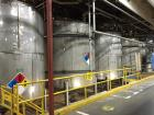 Used- Approximately 10,500 gallon 316L stainless steel vertical storage tank