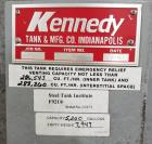Used- Kennedy Tank and Manufacturing Co. Storage Tank