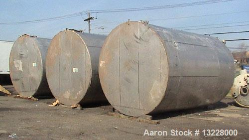 """Used- Tri-Canada Tank, 12,000 Gallon, T316 stainless steel, vertical storage tank. Approximately 10'10"""" diameter x 16' high ..."""