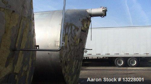 "Used- Tri-Canada Tank, 12,000 Gallon, T316 stainless steel, vertical storage tank. Approximately 10'10"" diameter x 16' high ..."