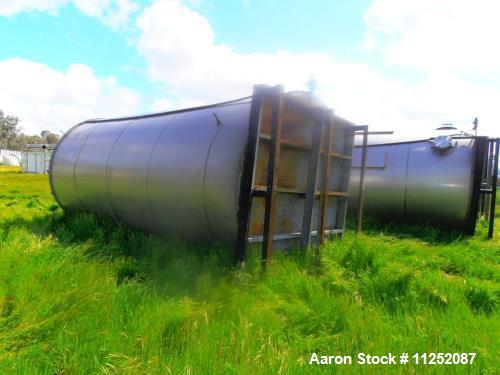 Used Valley Foundry stainless steel storage tank, approximately 7,000 gallon cap