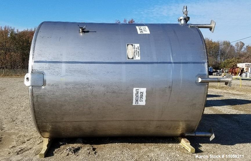 Used- Walker 5000 Gallon Stainless Steel Vertical Storage Tank
