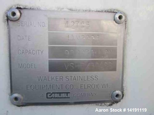 Used-Walker 9,700 Gallon 304 SS Polished (Sanitary) Tank