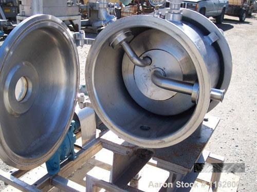 Used- Cornell Versator D16. Complete with Sihi vacuum pump model LPHB-3404-BN001012, all stainless steel product contact. Th...