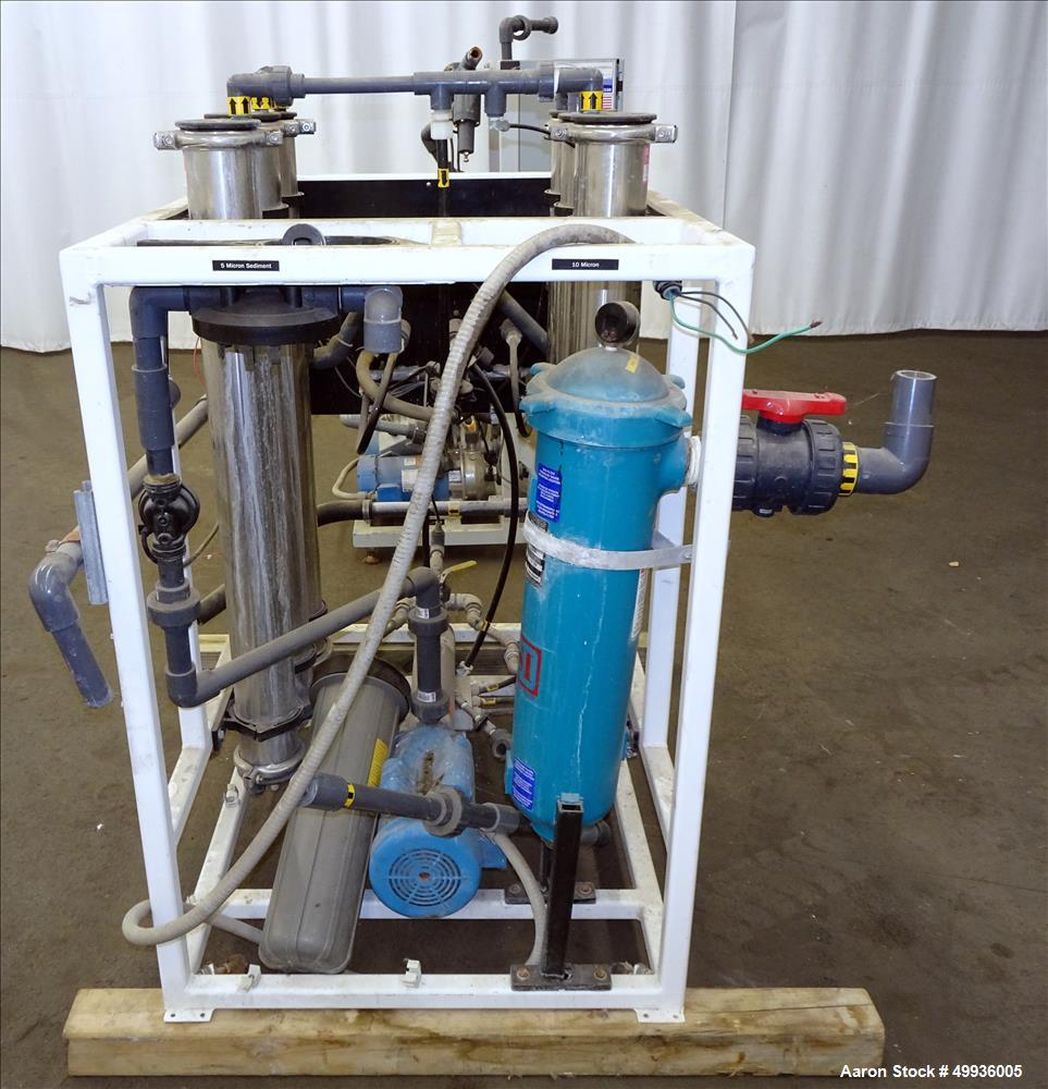 Used-Wigen Water Technologies Reverse Osmosis System, consisting of; Qty. (6) membrane filters, (1) Goulds booster pump, (1)...