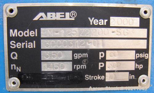 Used- 350 gpm at 90 psi Abel EM (Electromechanical Membrane) Pump, Model EM-1257