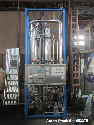 Used-Finn Aqua Pure Steam Generator, Model 1500-S-1. Single still with pump.
