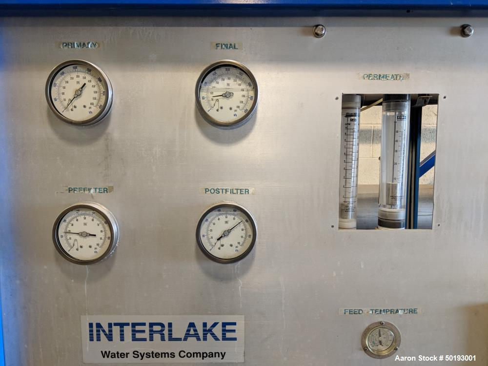 Used- Interlake Reverse Osmosis System