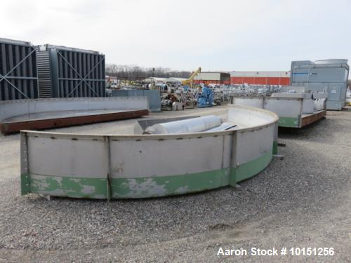 Used- 24' Diameter Krofta SP24 Stainless Steel Clarifier.