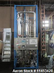 Used-One (1) used Finn Aqua pure steam generator, model 1500-S-1, single still with pump, shop order# 607002, serial# 38834,...