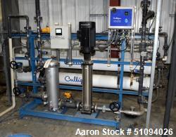 Used- Culligan Gx Series Dual Membrane Reverse Osmosis System. Consisting of: (2) Culligan Model C-300P-8 membrane pressure ...