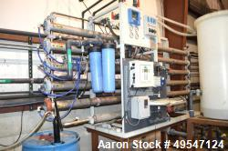 Used- GE Osmonics Reverse Osmosis System, Model RO-E4H-27K-DLX. Rated 18.8 gallons per minute. Serial# 06-1200066-02. Includ...