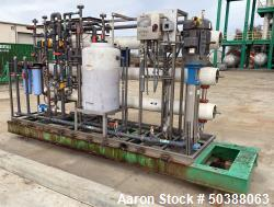 Used- Synder Filtration Reverse Osmosis System, Model PROX-809. Design supply rate is 5 gallons per minute, with a feed rate...
