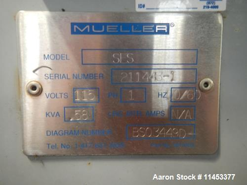 Used- Mueller Pyro Pure WFI Still, Model SES-30