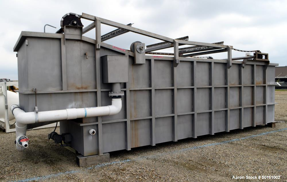 Used- Stewart Water Solutions Entrapped Air Flotation Wastewater Treatment System, Stainless Steel. Consisting of: (1) Separ...