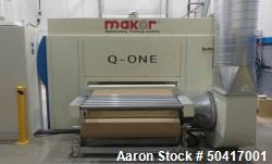 Used- Makor Q-ONE Feed Through Spray Machine